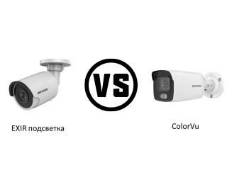 Технология ColorVu в сравнении с EXIR подсветкой или что лучше 4 мп или 6 мп?