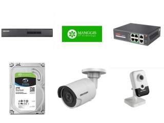Комплект на 4 IP камеры