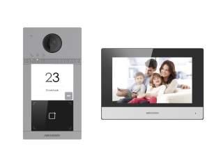 Комплект IP домофона DS-KIS604-P Hikvision DS-KV8113-WME1 + DS-KH6320-WTE1