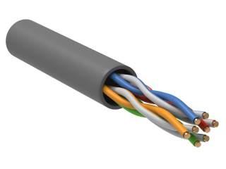 Сетевой кабель LC1-C5E04-111 U/UTP кат.5E 4х2х24AWG solid PVC серый
