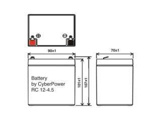 Аккумуляторная батарея CyberPower RC 12-4.5