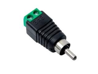 Коннектор RCA-M  для видео и аудио под винт