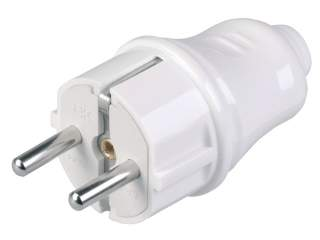 Вилка с з/к 16А белая ITK EVP10-16-01-K01 ВПп10-01-Ст